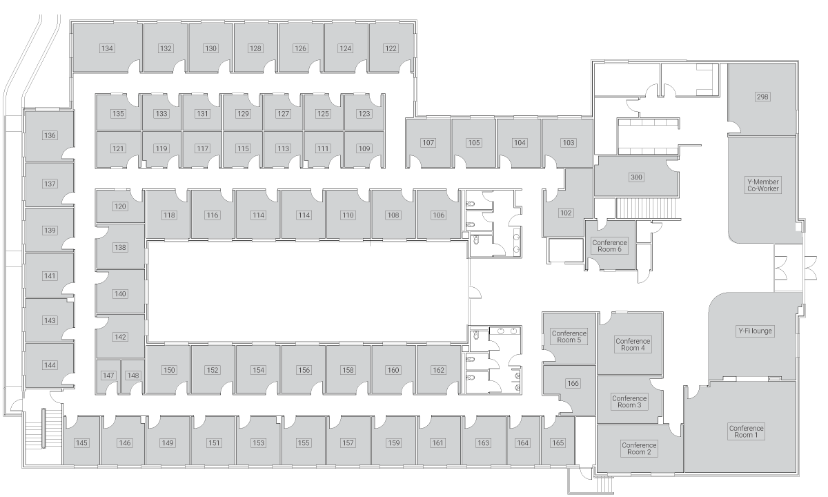 Caddo Office Reimagined Allen Office Spaces - First Floor