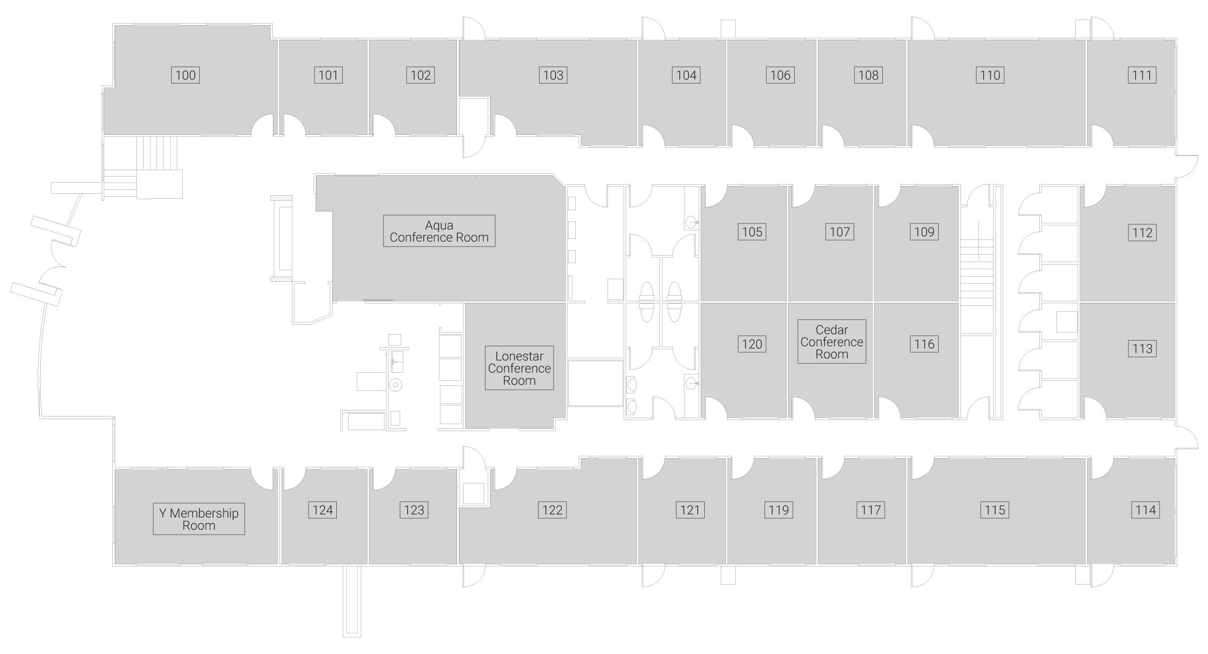 Caddo Office Reimagined McKinney Office Spaces - Third Floor