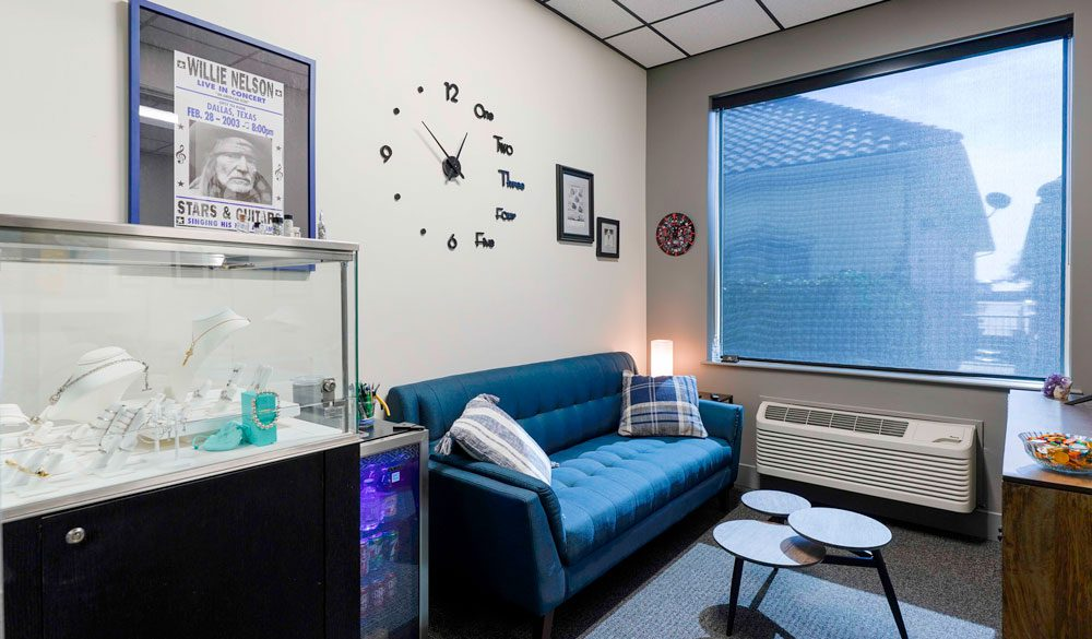Interior view of a private office rental at Caddo Office Reimagined