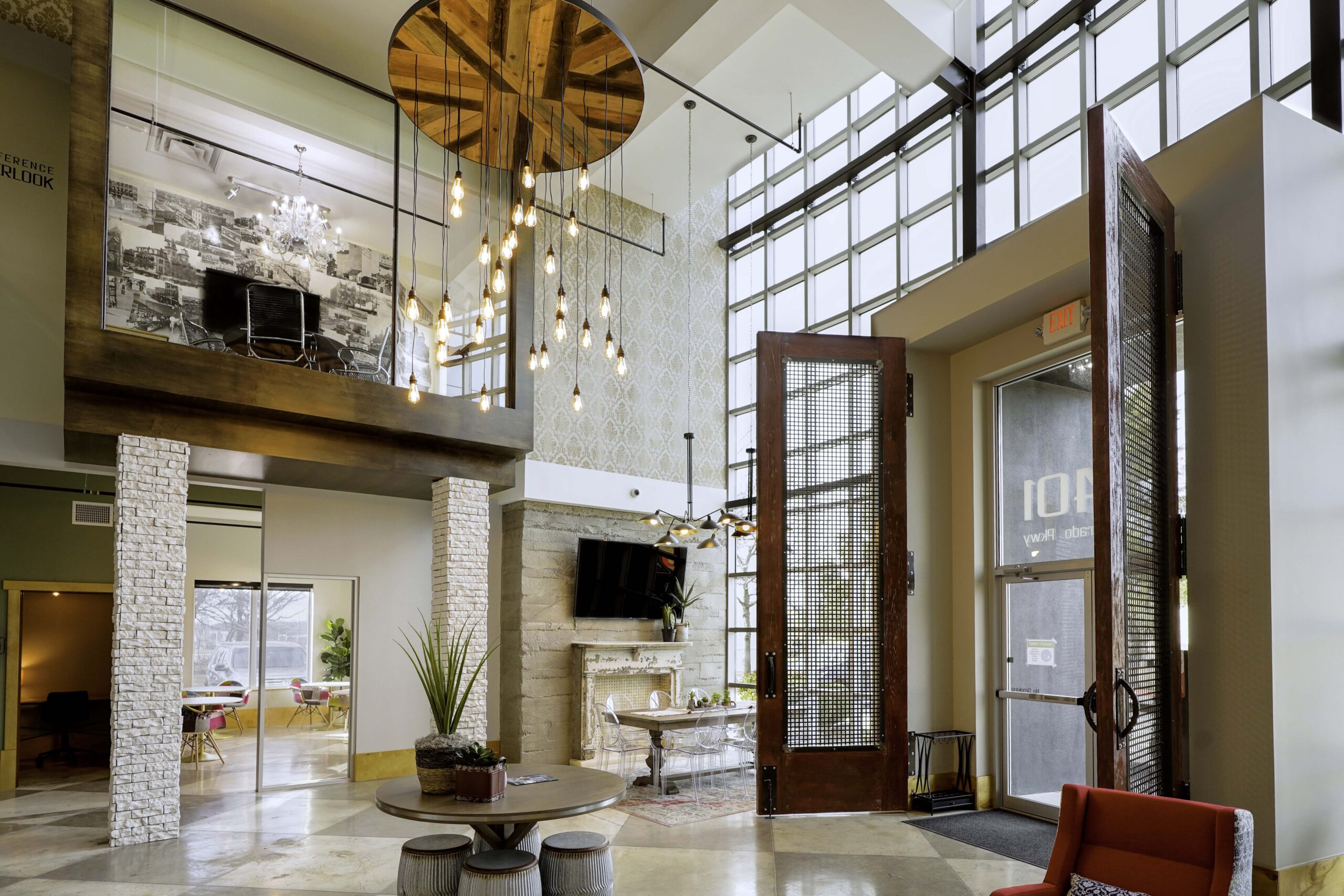 Entrance of Caddo Office Reimagined coworking space